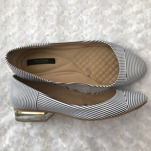 Zara Basic Collection Flats Striped Shoes Size 38