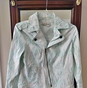 Mudd White and Teal Jacket