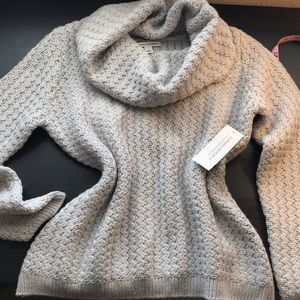 Banana Republic - light gray knit sweater.