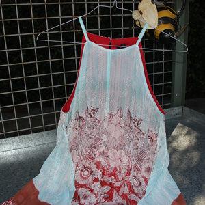 MSK Red Teal Dress Size Medium