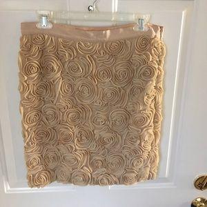 Gold rose bud Banana Republic skirt size 6