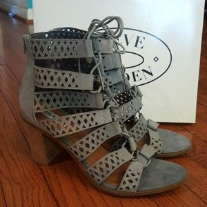 New Steve Madden Delphine Blue Suede Sandals