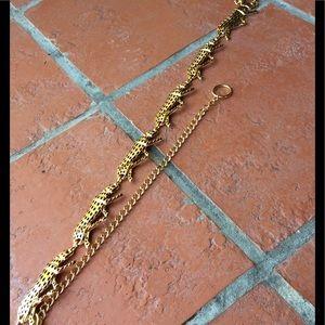 Vintage 80's jaguar chain belt