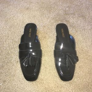 Brand New Nine West Patent Leather Tassel Mules