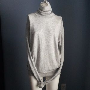 Zara Heather Grey Knit Turtleneck Sweater