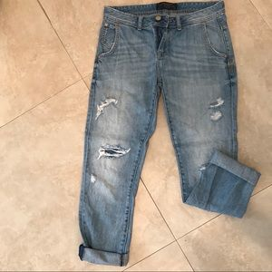 Zara Ripped Light Jeans
