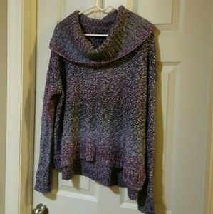 American Eagle purple knit cowl neck sweater
