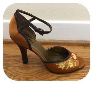 Carlos Santana Saki Goldfish Ankle Strap Heels