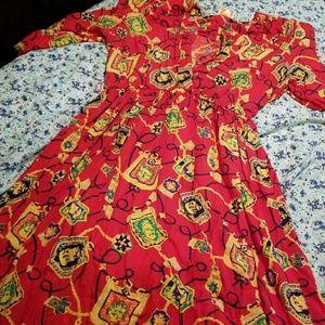 Bomb vintage shoulder padded dress/ pockets