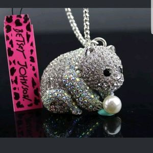 Panda Necklace by Betsey Johnson