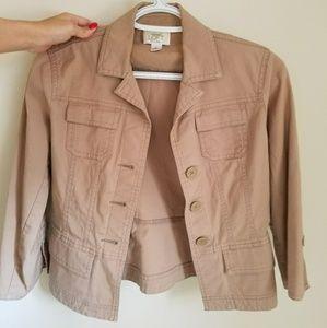 Ann Taylor LOFT Beige Coat/Jacket Lightweight