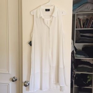 NWT Nasty Gal white tunic with split sides