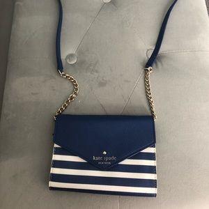 Blue/white cross body Kate Sade wallet