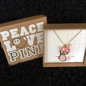 Victoria's Secret PINK Dog Heart Peace NECKLACE