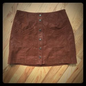 Free People mini skirt suede material