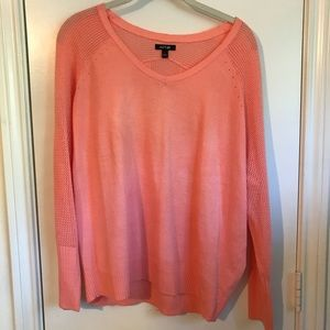 Coral long sleeved light sweater