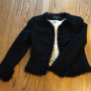 Dressy, black,  suit jacket with trim