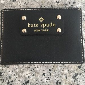 Kate Spade Black Leather Card Case