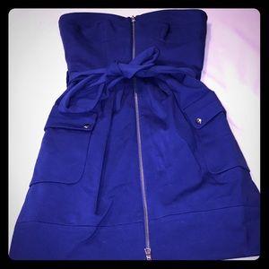 Designer strapless zip up!