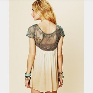 Free People Embellished Palms Ombre Tunic