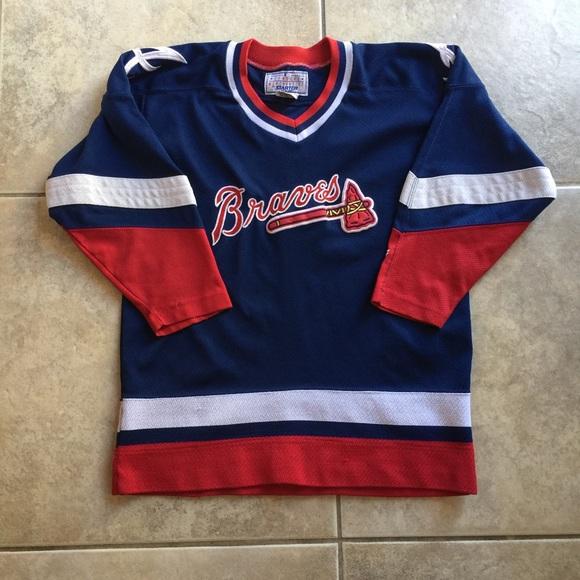 half off e9720 97a84 Vintage Atlanta Braves Starter Hockey Jersey