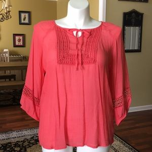 Sunny, Melon-colored Tunic by Dress Barn. Size 1X