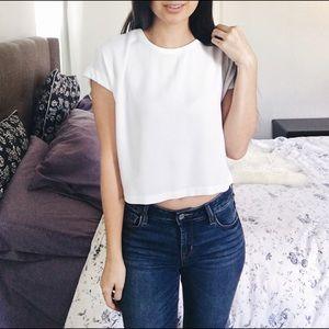 H&M • White cropped blouse