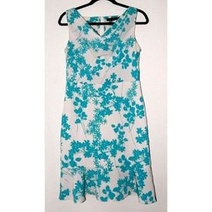 The Limited Sleeveless Cowl Neck Floral Dress