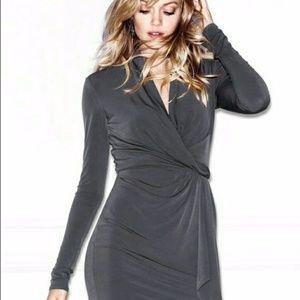 NEW Victoria's Secret Faux Wrap Dress in Gray