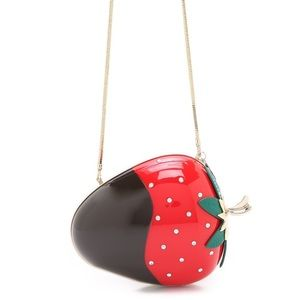 Rare Kate Spade Dipped Strawberry Clutch
