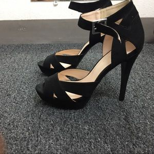 4 1/2 in. high heels with 1 inch of the platform