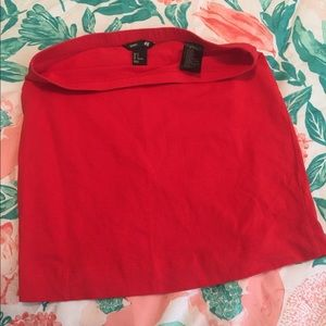Coral skirt from H&M basics
