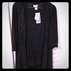 Beautiful Black Dressy Pant Set- 18  NWT