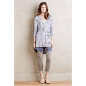 Anthropologie / Nomi Cardigan Long Layered Sweater
