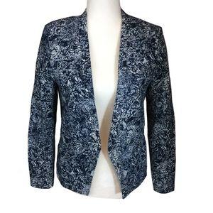 Blue and White Tapestry Blazer