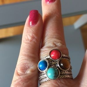 Stackable ring set w/7 rings sz 7