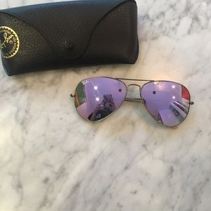 Ray-Ban Lilac Aviator Sunglasses