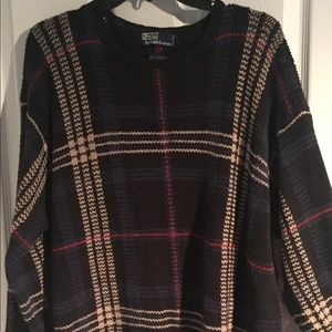 Polo cable knit sweater size large