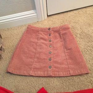 Pink button down skirt never worn