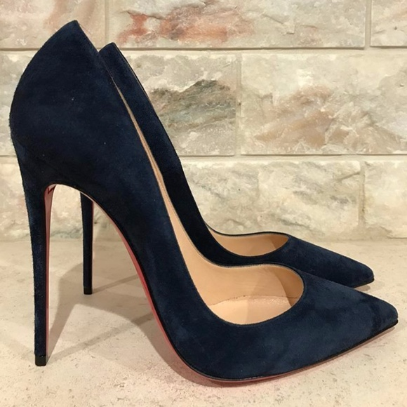 17702ae1b2cd  Christian Louboutin So Kate 120 Blue Navy Suede