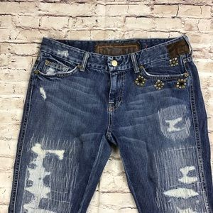 7 for all mankind Womens distressed A pocket jeans