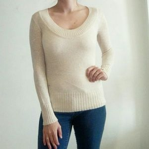Express shimmery scoop neck sweater