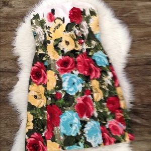 Ann Taylor Loft size 6 floral sweetheart dress