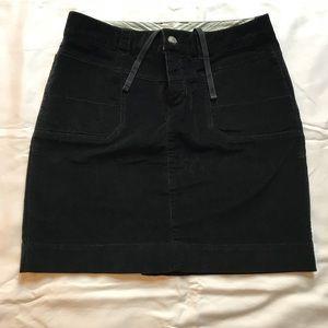 Athleta women's black velvet mini skirt. Size 12