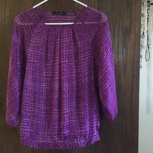 Purple, sheer limited blouse
