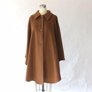 Jimmy Hourihan Camel Cashmere Wool Cape Coat