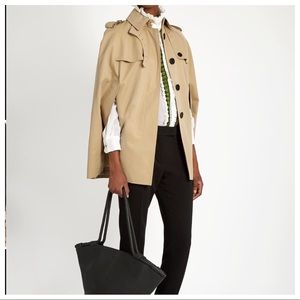 BURBERRY 'Wolseley' Cotton Trench Cape