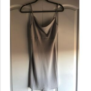 Light Grey silk Shift Dress