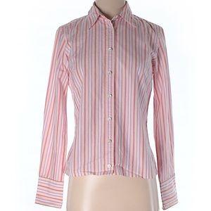 J. Crew long sleeve shirt pink stripped print