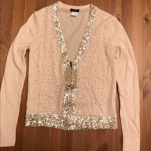 j.Crew sequined zip up cardigan- EUC-Size xs